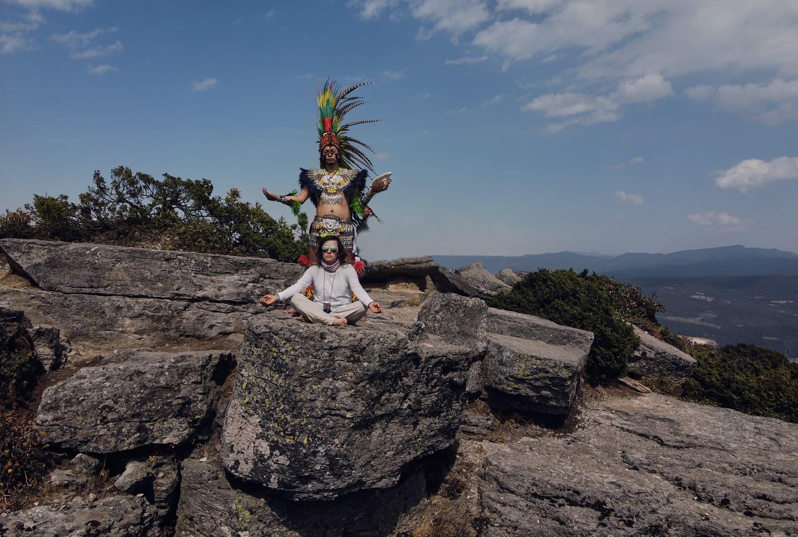 Meditación en Parque Natural el Rey, Tlaxco Tlaxcala