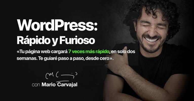 Wordpress Rápido y Furioso por Mario Carvajal